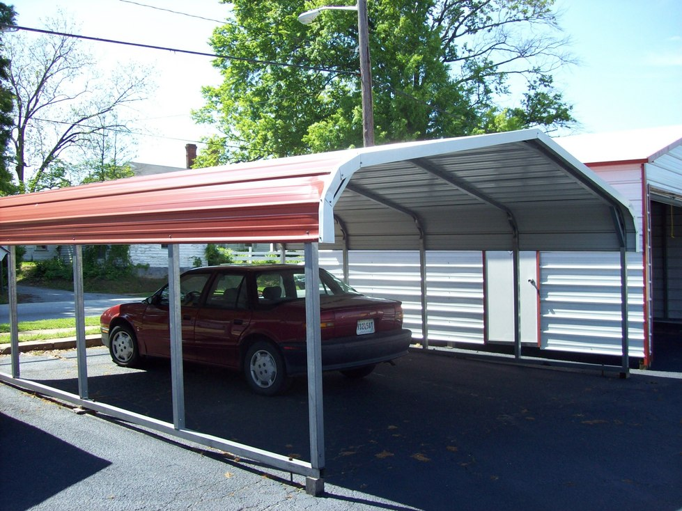 Carports metal carports louisiana la steel garages for Garage and carport