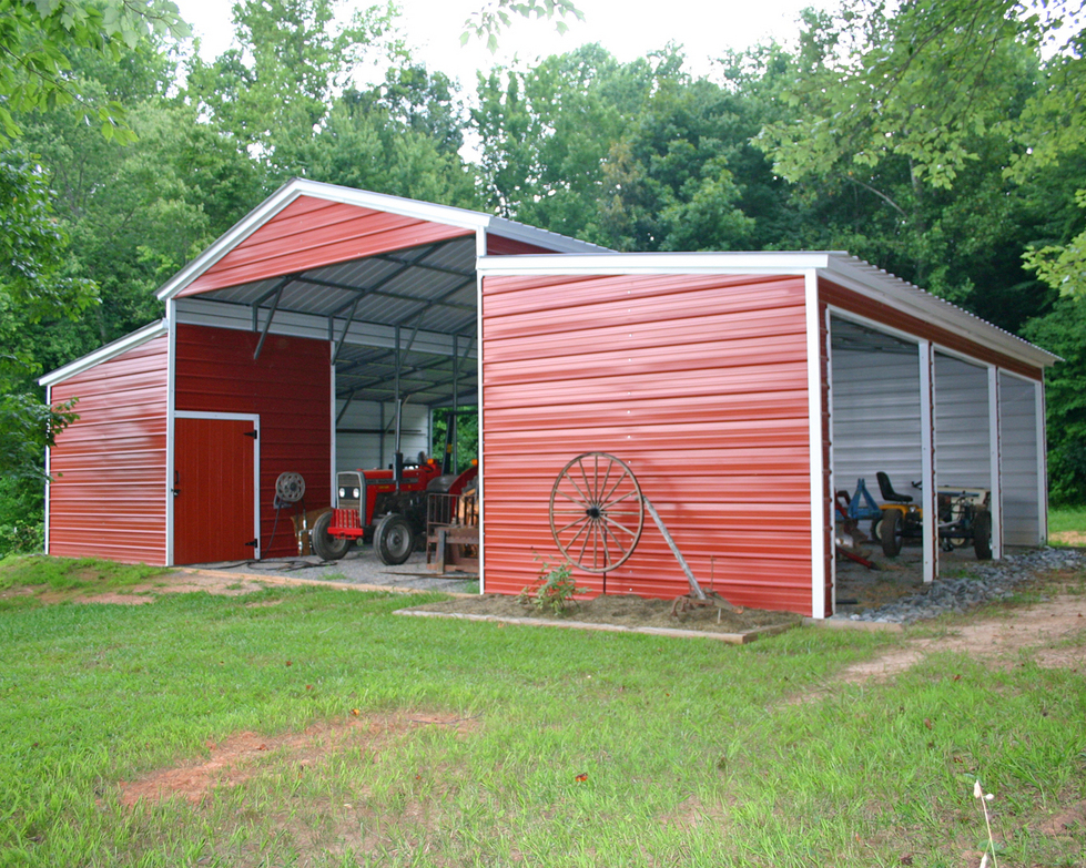 Steel carports steel garages steel buildings barns for Barns and garages