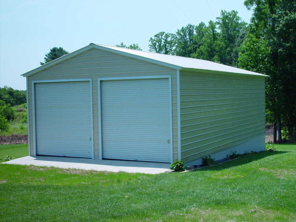 Steel garages steel buildings for Aluminum sheds for sale