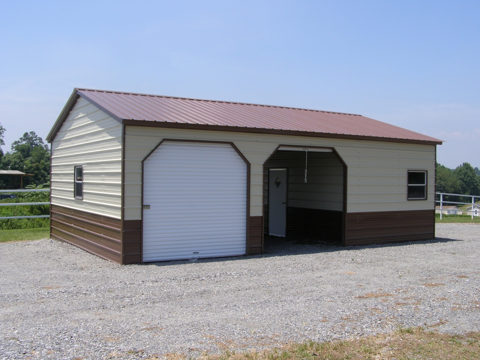 Steel carports steel garages steel buildings barns for Garage and carport