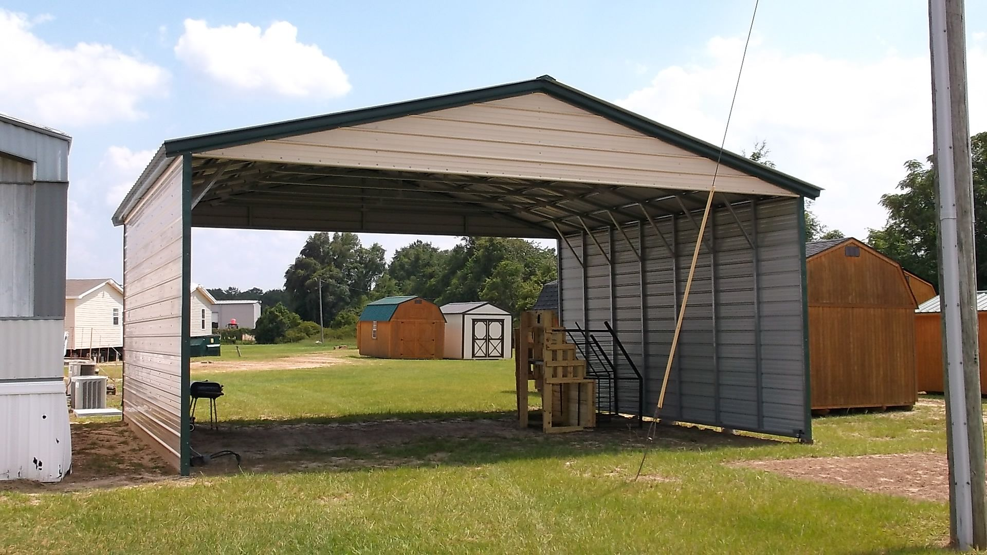Triple Wide Vertical Roof Carport